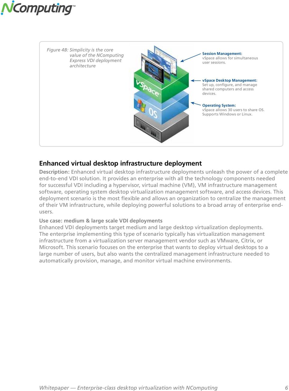 Enhanced virtual desktop infrastructure deployment Description: Enhanced virtual desktop infrastructure deployments unleash the power of a complete end-to-end VDI solution.