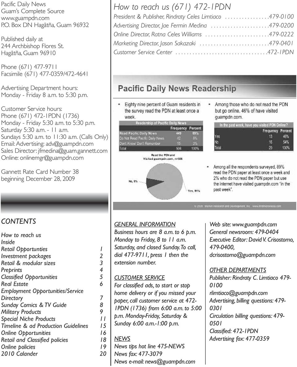 CONTENTS  Pacific Daily News Guam s Complete Source P O  Box DN