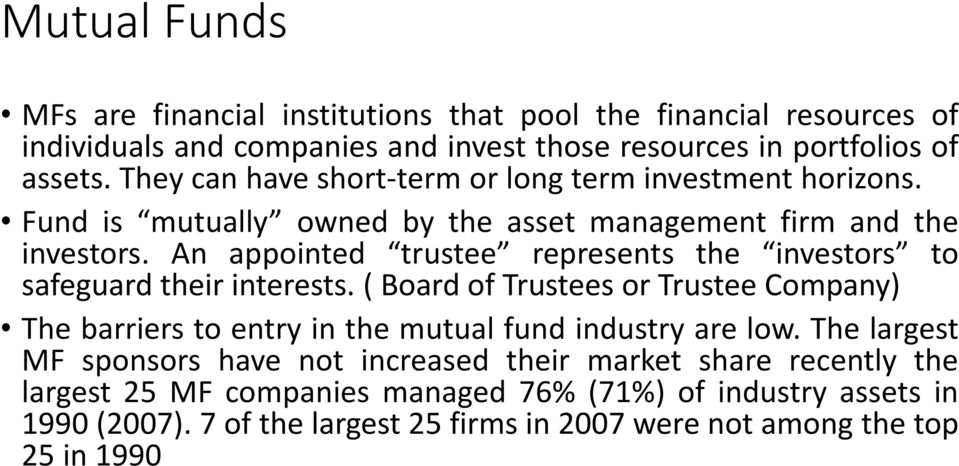 An appointed trustee represents the investors to safeguard their interests.