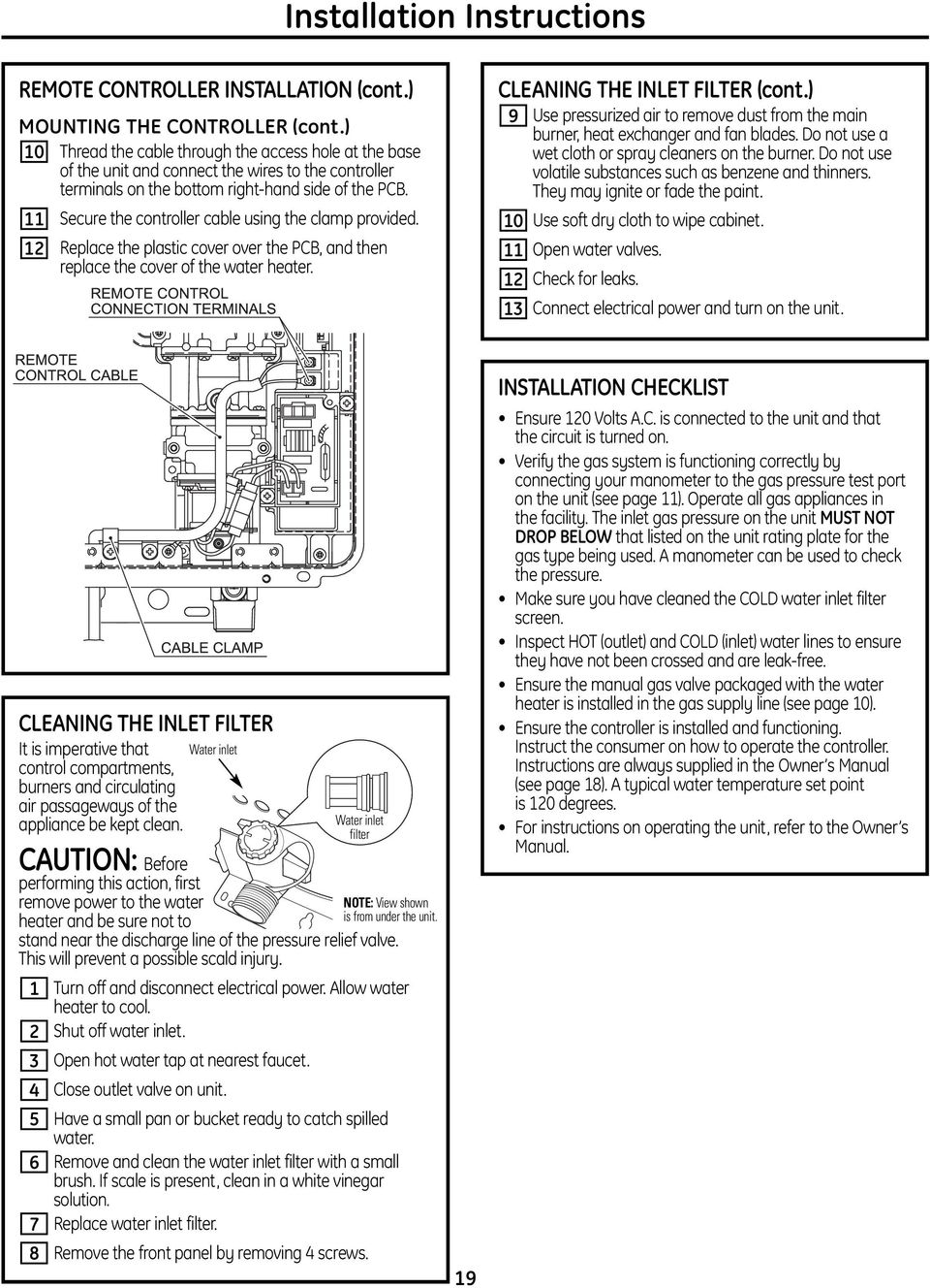 Installation Instructions Pdf Thread Fixed Kenmore 80 Series Electric Dryer Heating But Not 11 Secure The Controller Cable Using Clamp Provided 12 Replace Plastic Cover Over