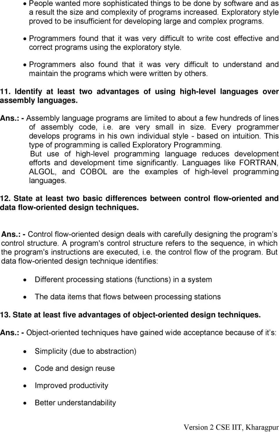 Advantages Of Assembly Language