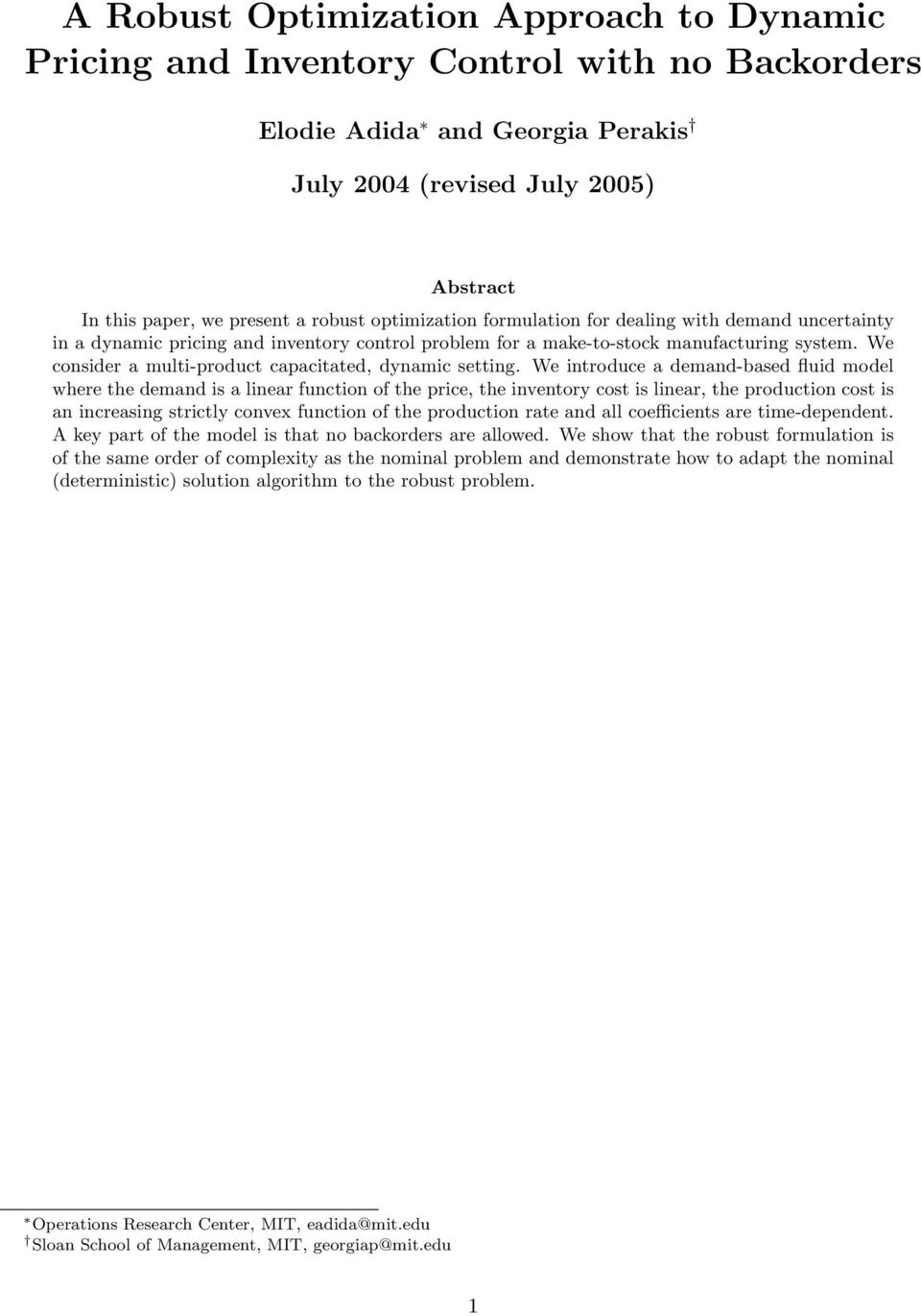 A Robust Optimization Approach to Dynamic Pricing and