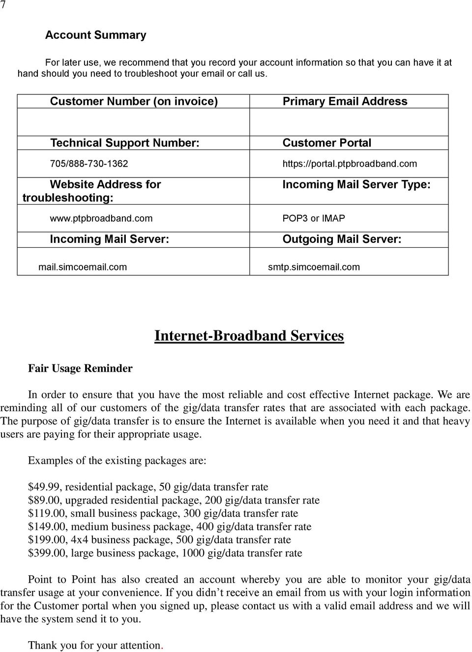 Internet Service Business - PDF