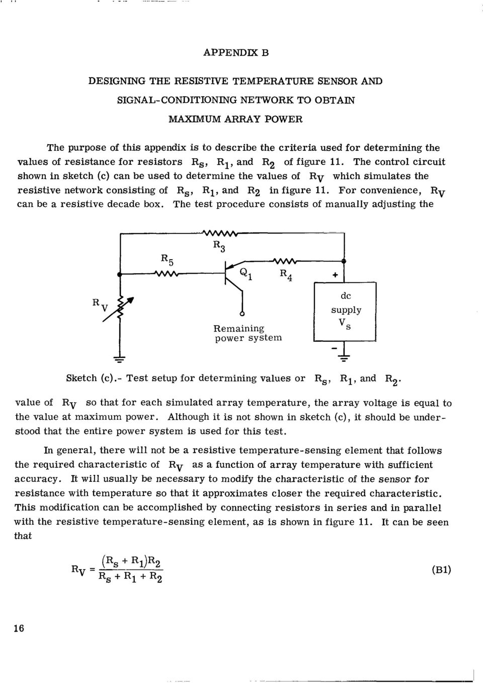 By Merton Sassman Maximum Power Transfer From A Solar Cell Array Related Circuits Automatic Supply Circuit Silicon Photocell The Control Shown In Sketch C Can Be Used To Determine Values