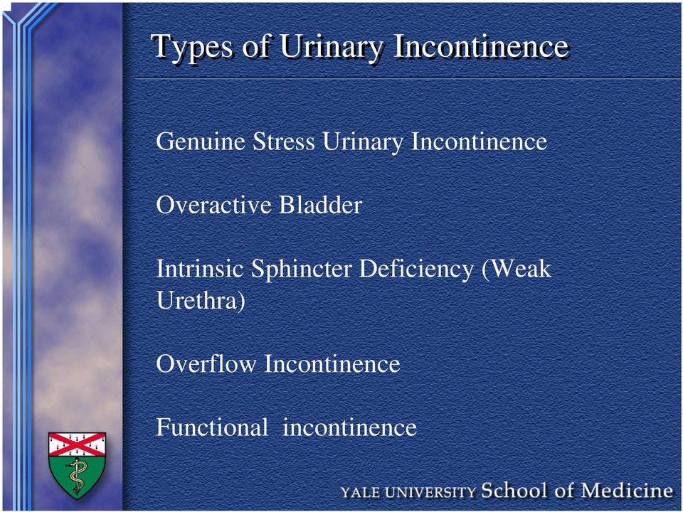 Bladder Intrinsic Sphincter Deficiency