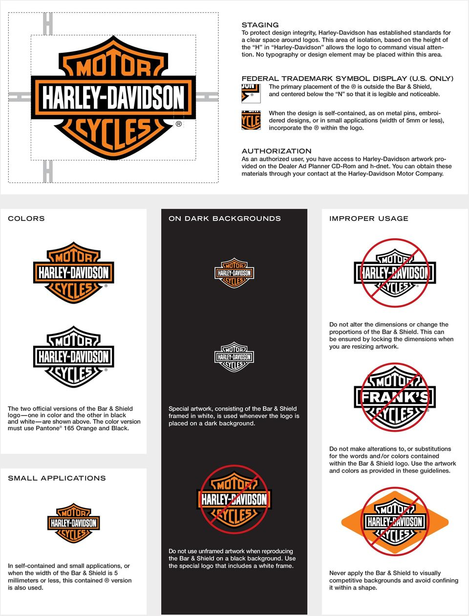 Harley Davidson Visual Identity And Trademark Guidelines Pdf