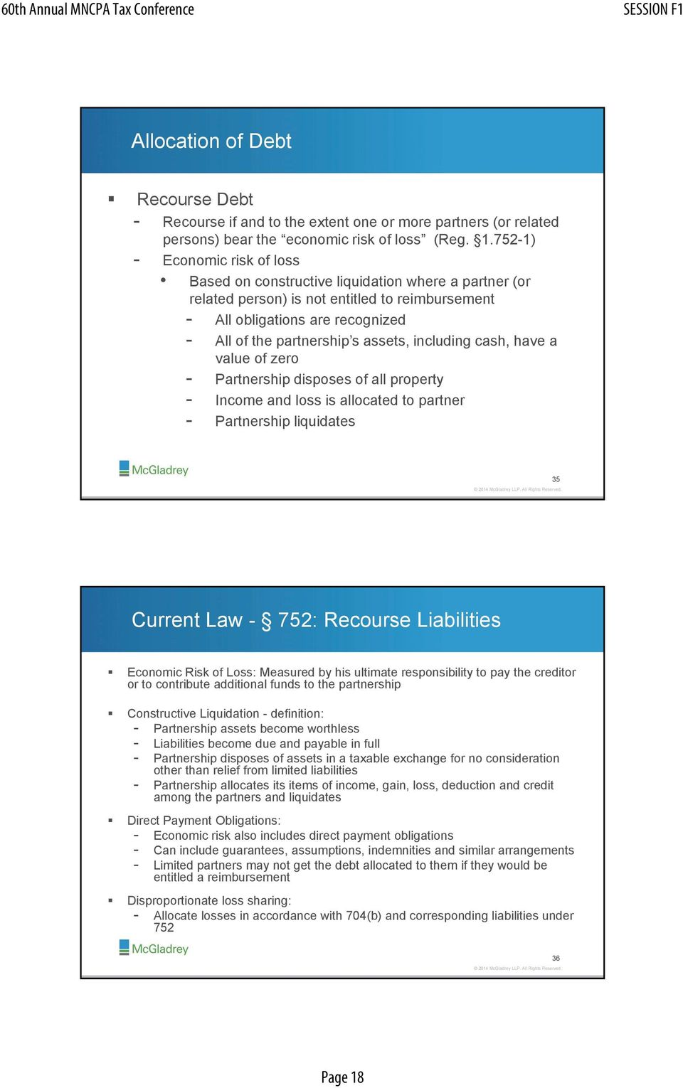 form 1065 recourse liabilities  Partnership Basis and At Risk Rules: The New Section 13 ...