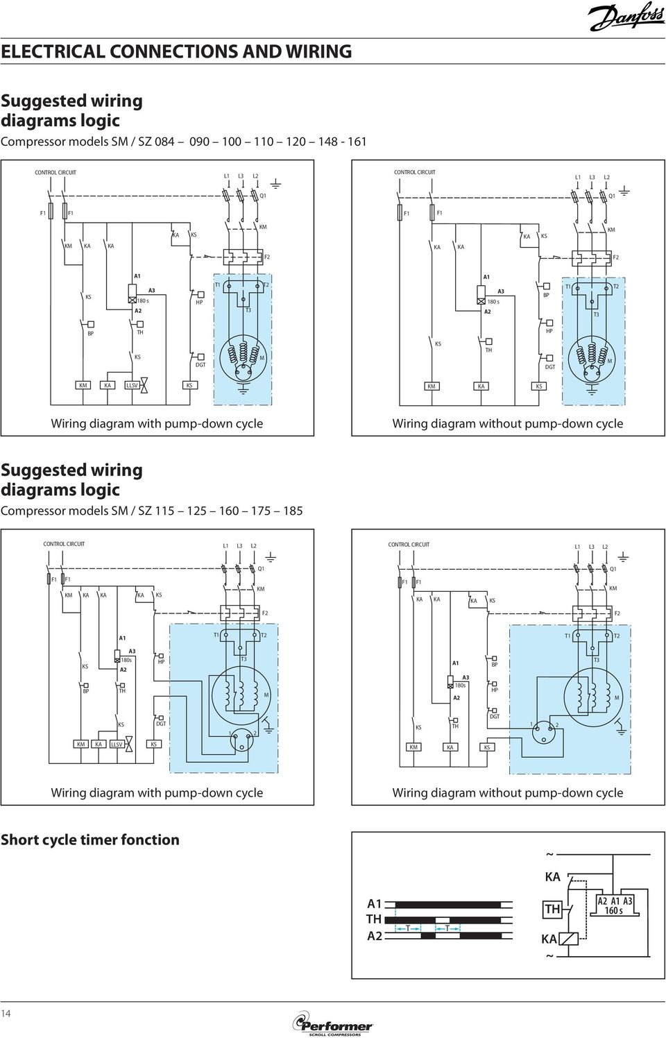 Selection Application Guidelines Performer Scroll Compressors Wiring Diagrams For Ka Pump Down Cycle 85 52 019 A Suggested Logic Compressor Models Sm