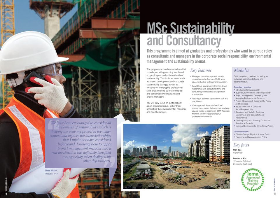 We have been encouraged to consider all the elements of sustainability which is helping me view my project in the wider context and explore the interrelationships that I might not have considered