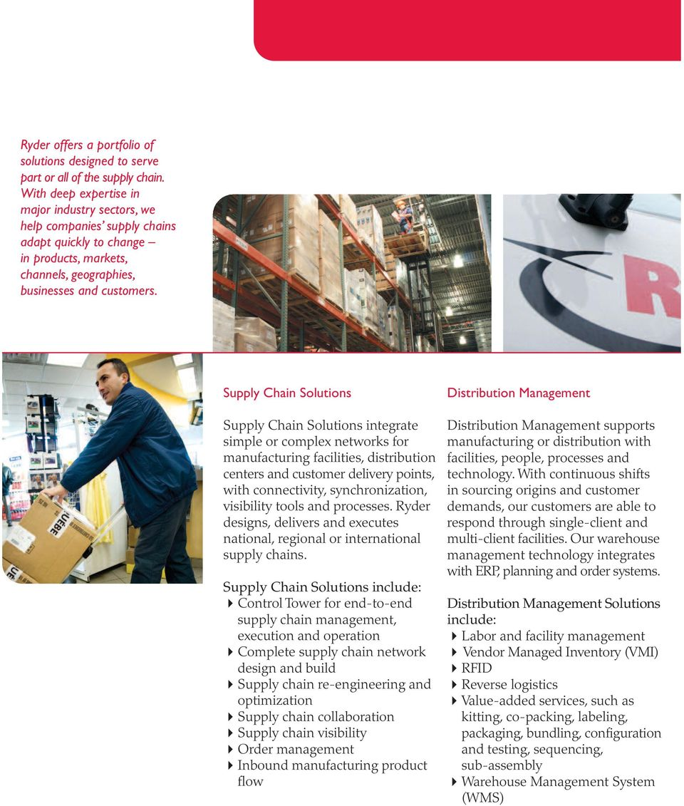 Ryder Dedicated Contract Carriage  Solutions that Speed Products to