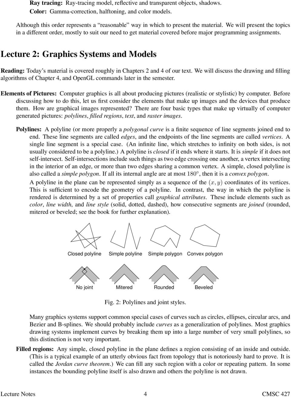 Computer Graphics Lecture Notes
