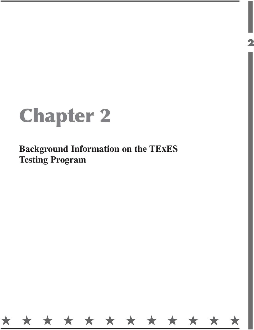 Texes texas examinations of educator standards preparation manual 12 background information on the texes testing program the texes tests for texas teachers 2 as required by the texas education code successful performance fandeluxe Choice Image