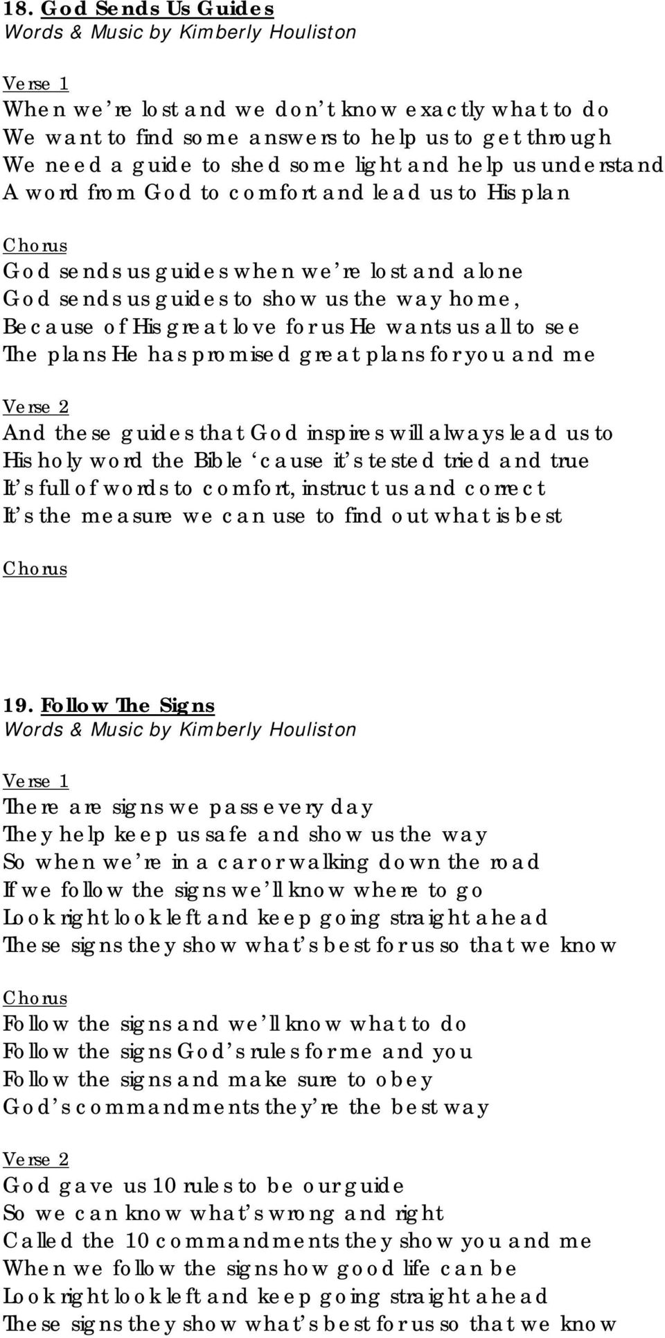 Song Book  Sing About God s Love  General Conference Seventh-day