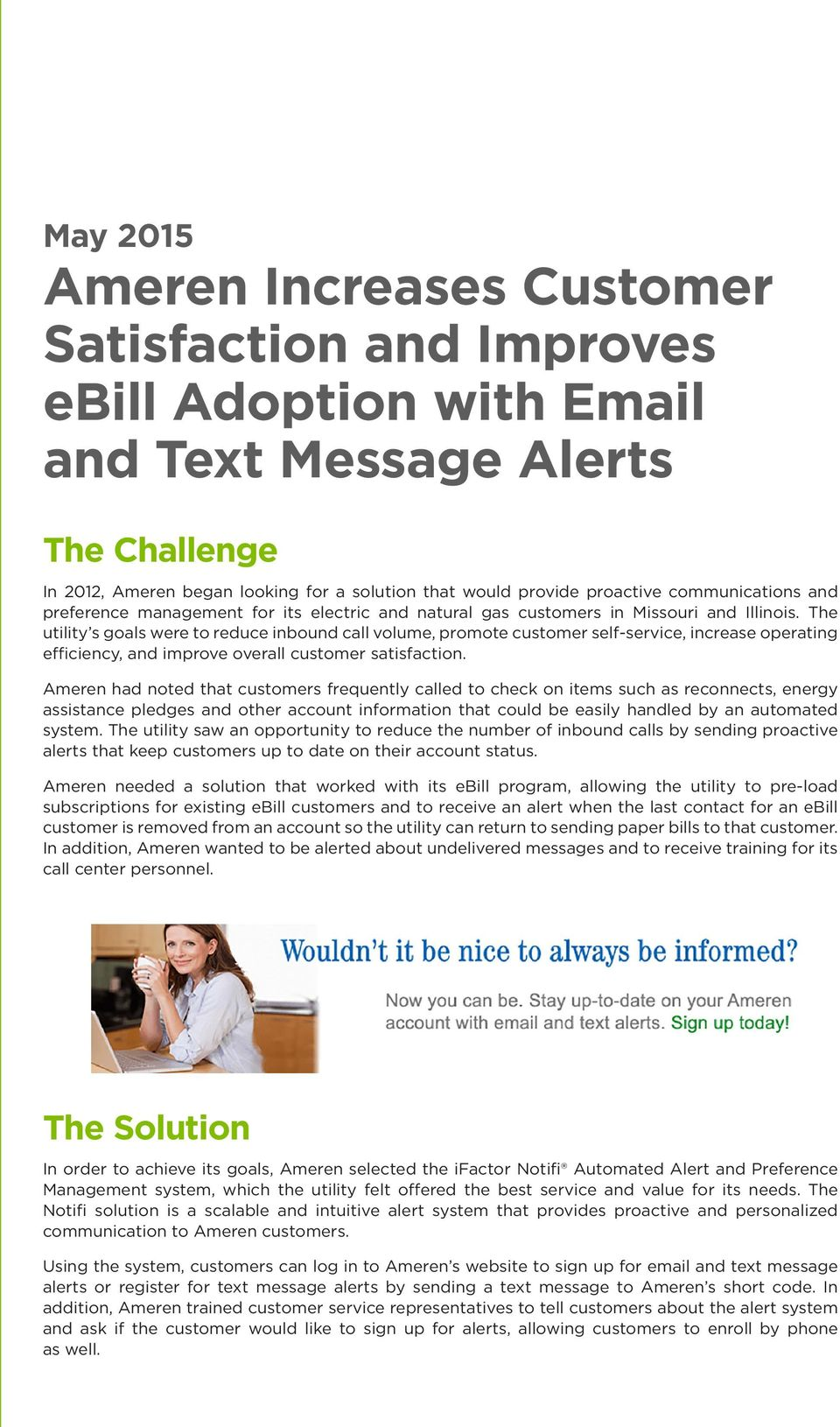 Case Study: Ameren and Text Message Alerts - PDF