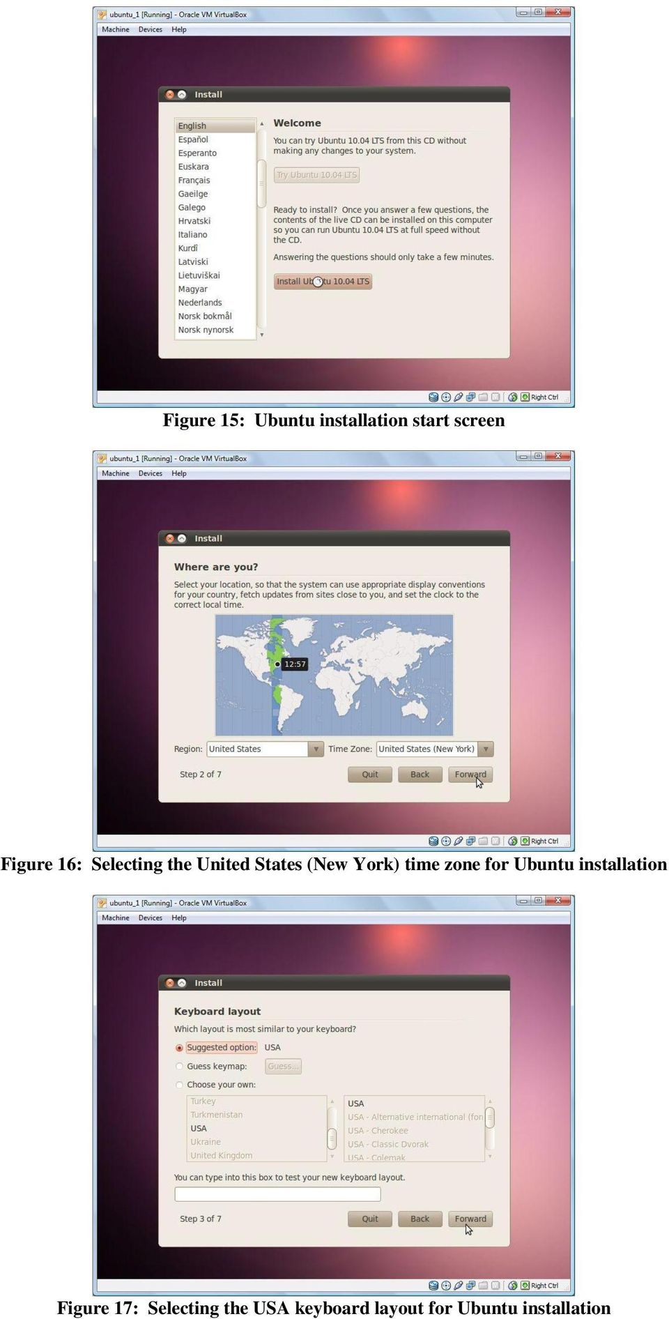 York) time zone for Ubuntu installation Figure