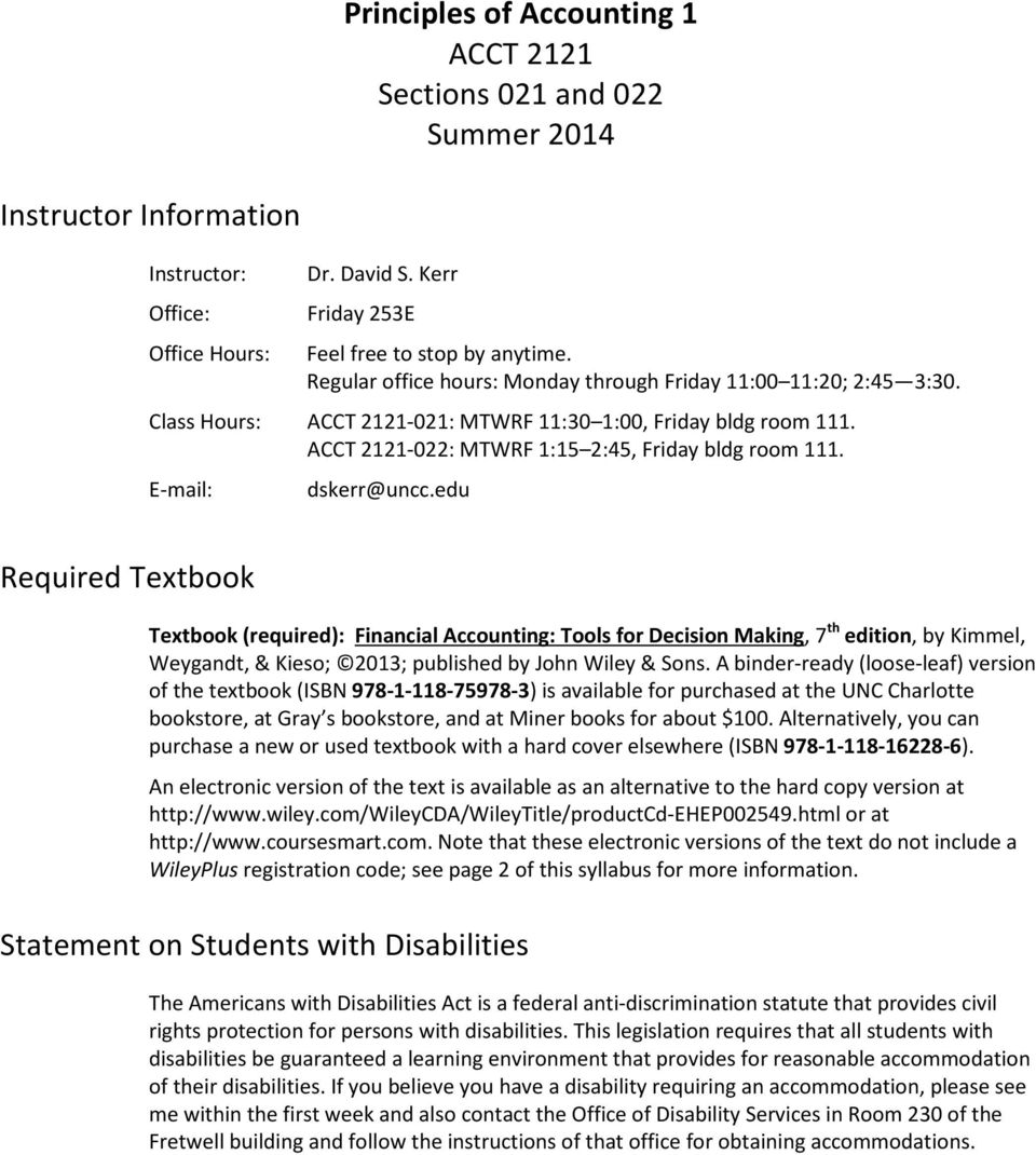 Student Information Form ACCT 2121, Summer PDF