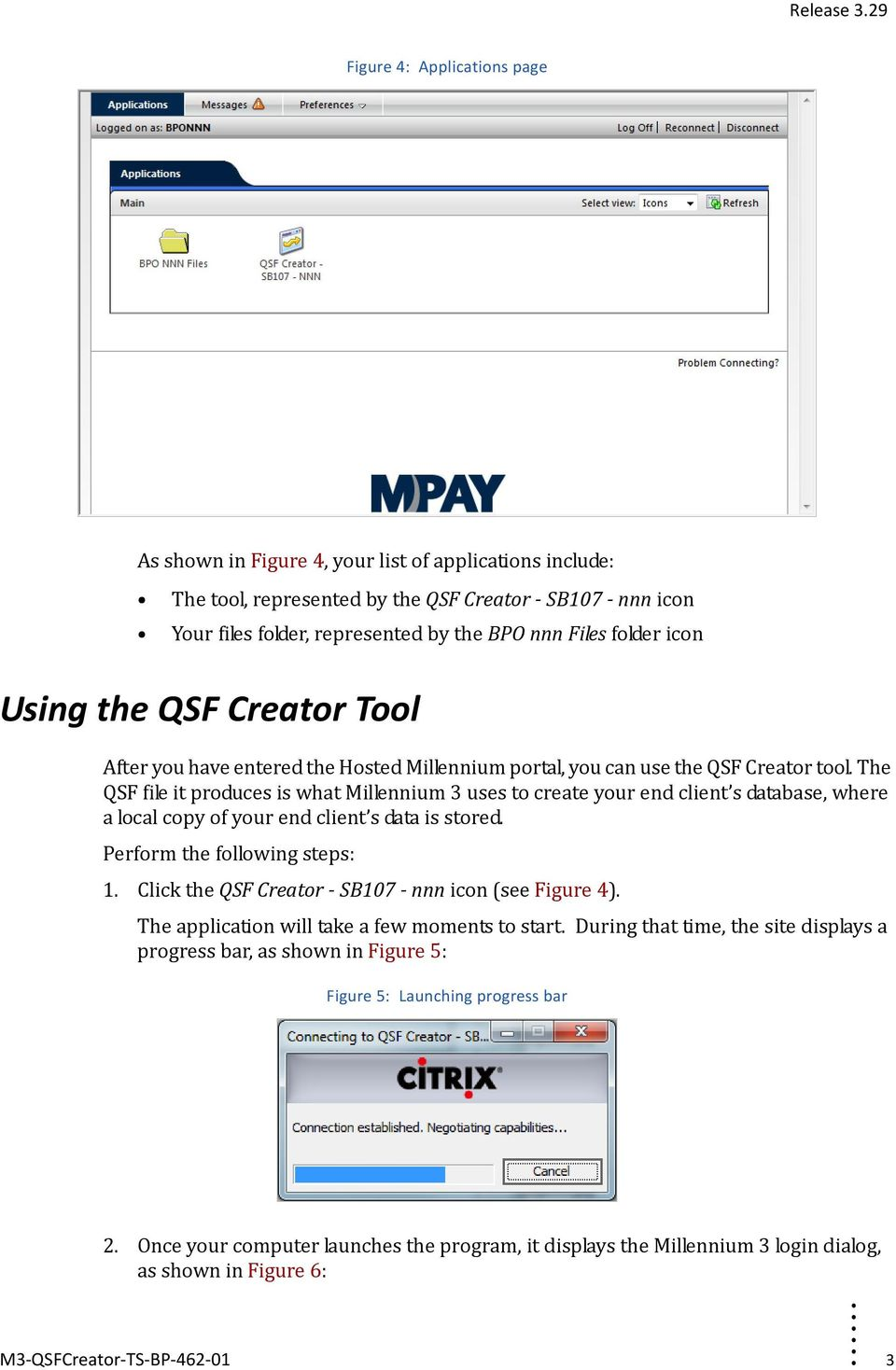 QSF Creator Tool  Task Sheet  Logging Into Hosted Millennium