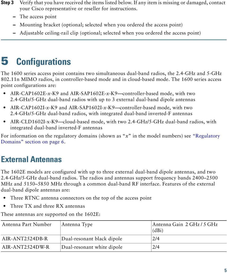 Cisco Aironet 1600 Series Access Points December, PDF
