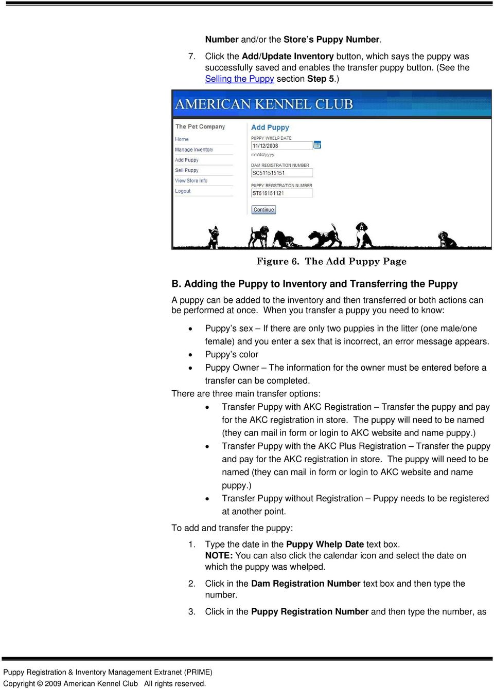 Puppy Registration & Inventory Management Extranet (PRIME) - PDF