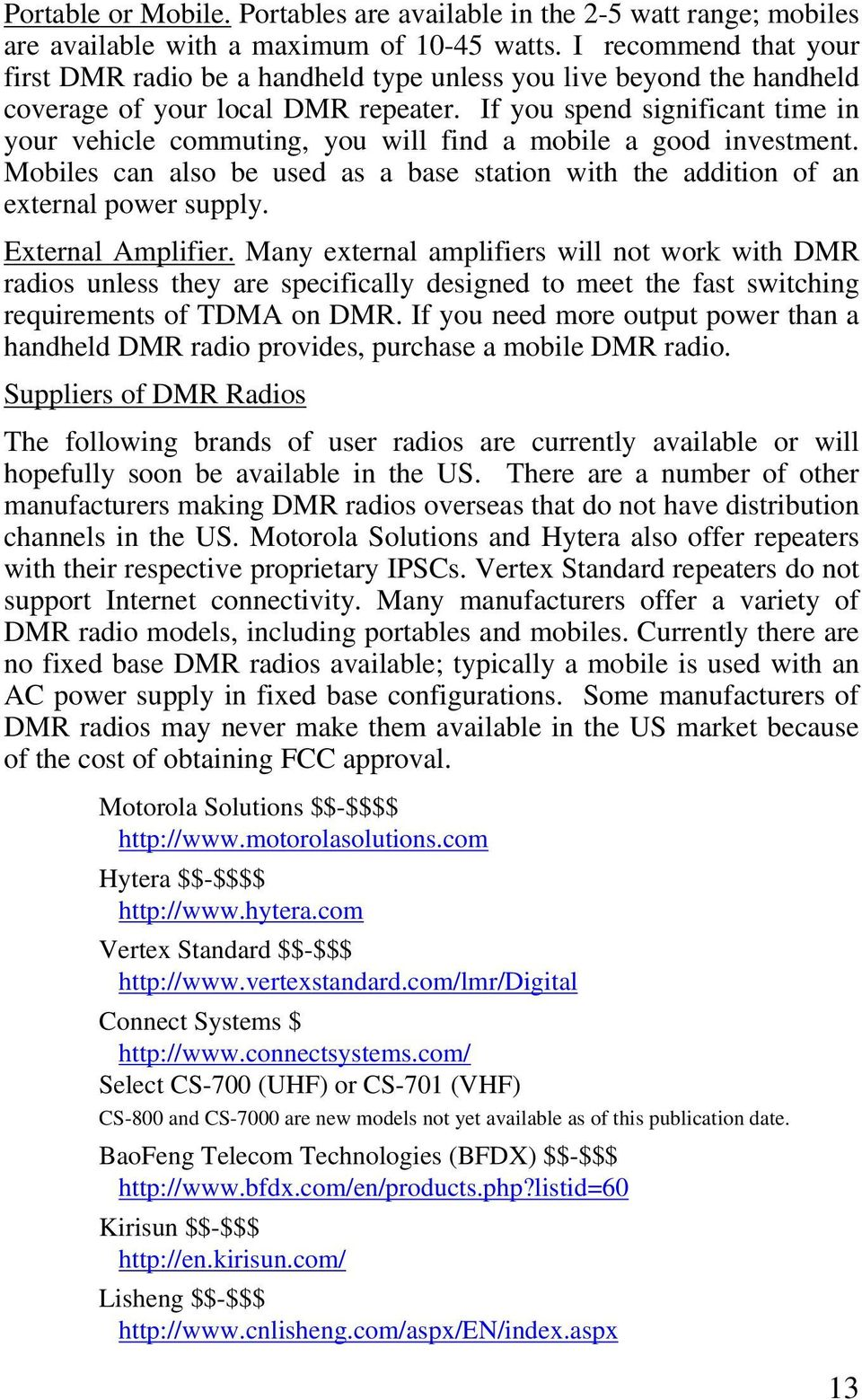 Amateur Radio Guide to Digital Mobile Radio (DMR) $ PDF