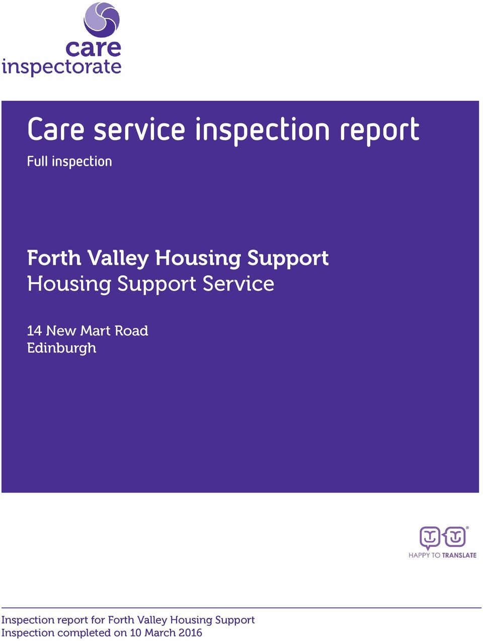 Housing Support Service 14 New Mart Road