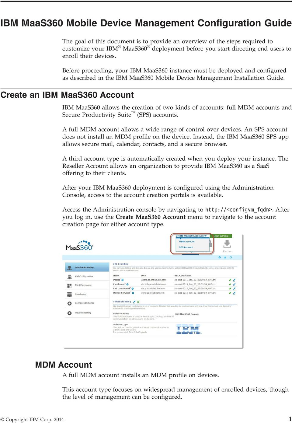 IBM MaaS360 Mobile Device Management  Configuration Guide