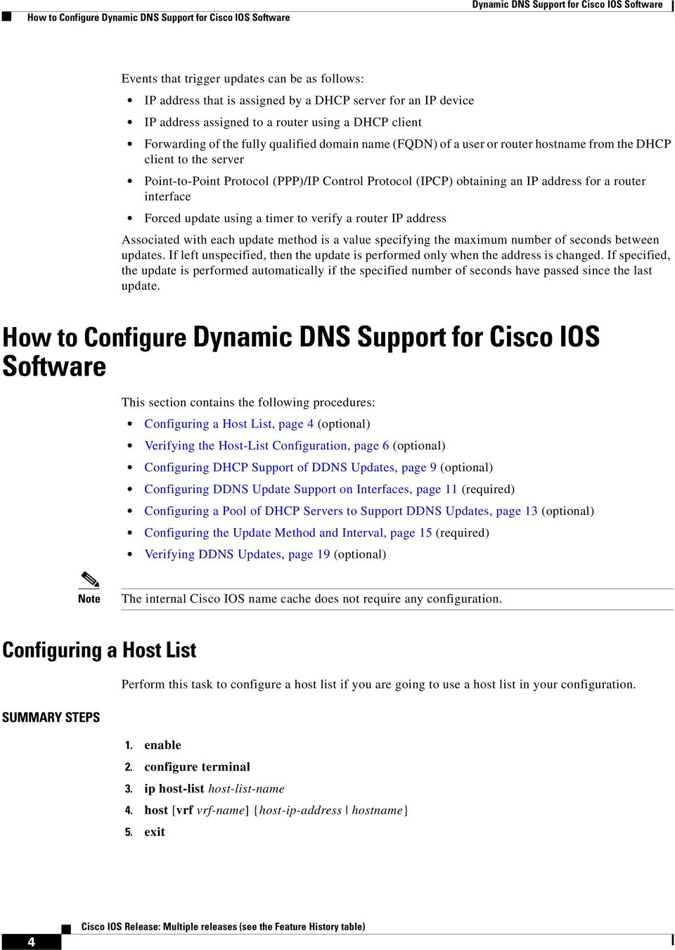 Dynamic DNS Support for Cisco IOS Software - PDF