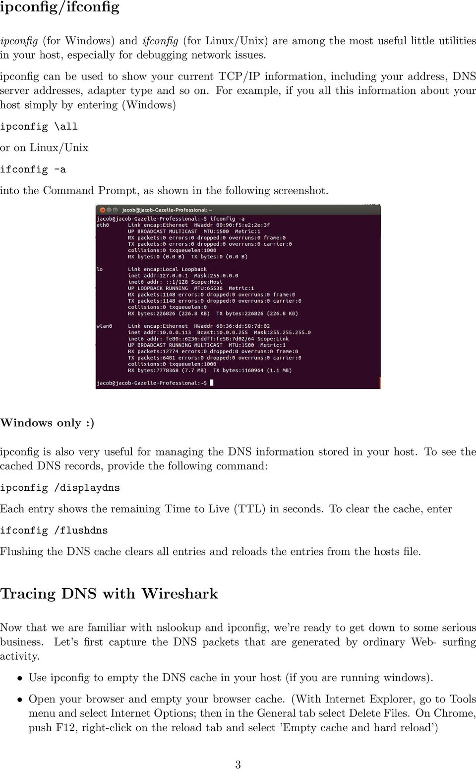 Wireshark DNS  Introduction  nslookup - PDF