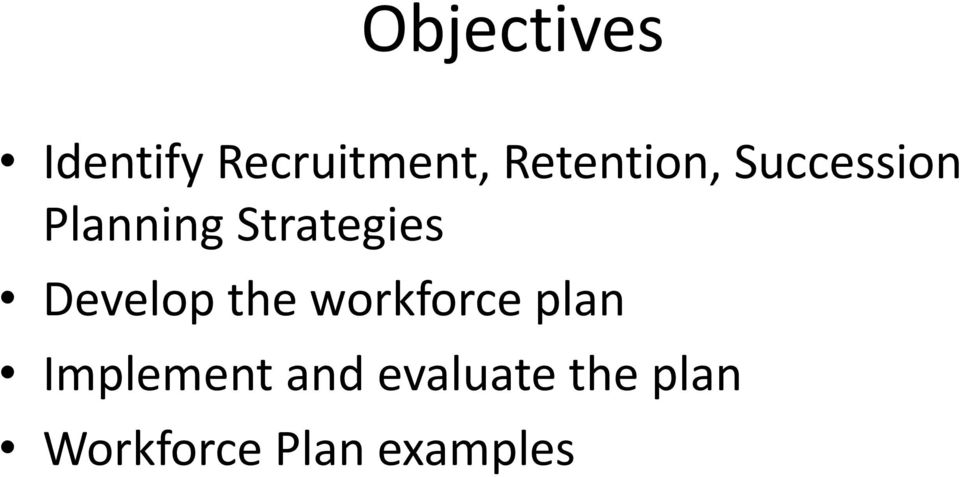 Developing a Workforce Plan: Setting the Foundation - PDF