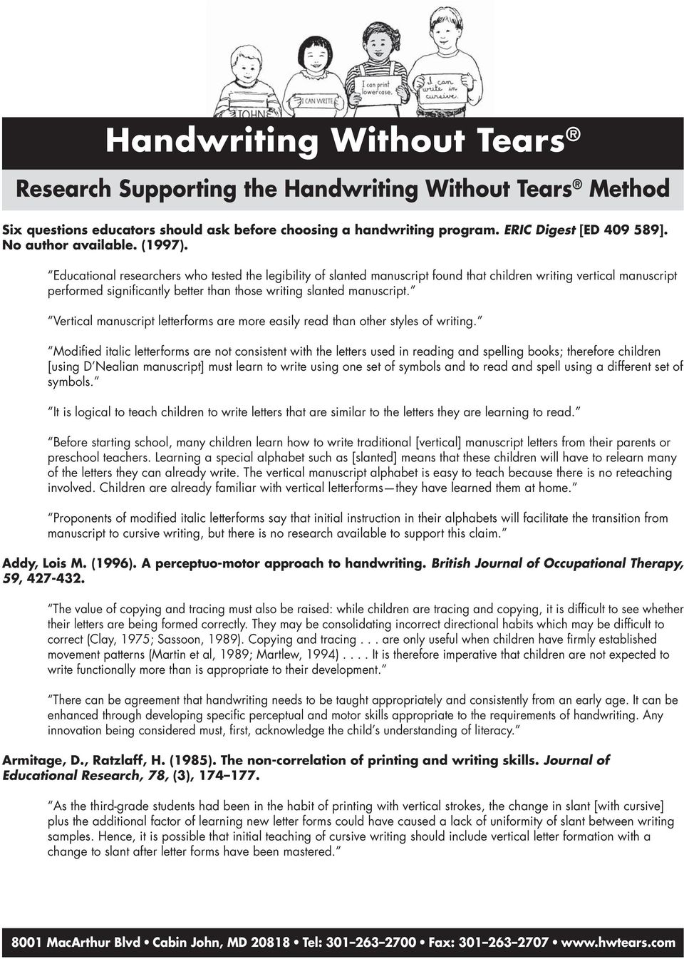 Handwriting Without Tears - PDF