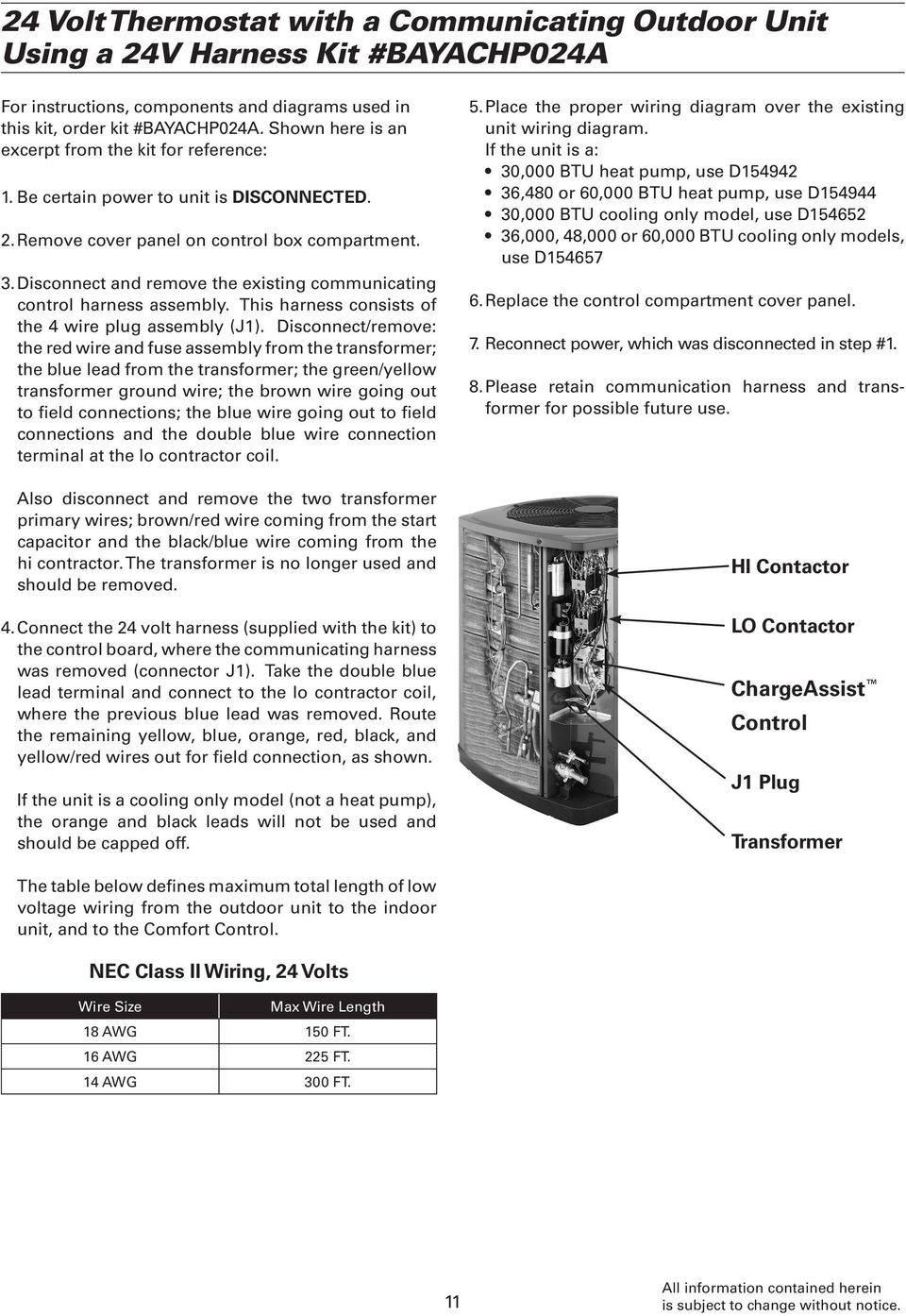 Communicating Controls Service Manual Pdf 24 Volt Coil Wiring Diagram Disconnect And Remove The Existing Control Harness Assembly This Consists Of 4