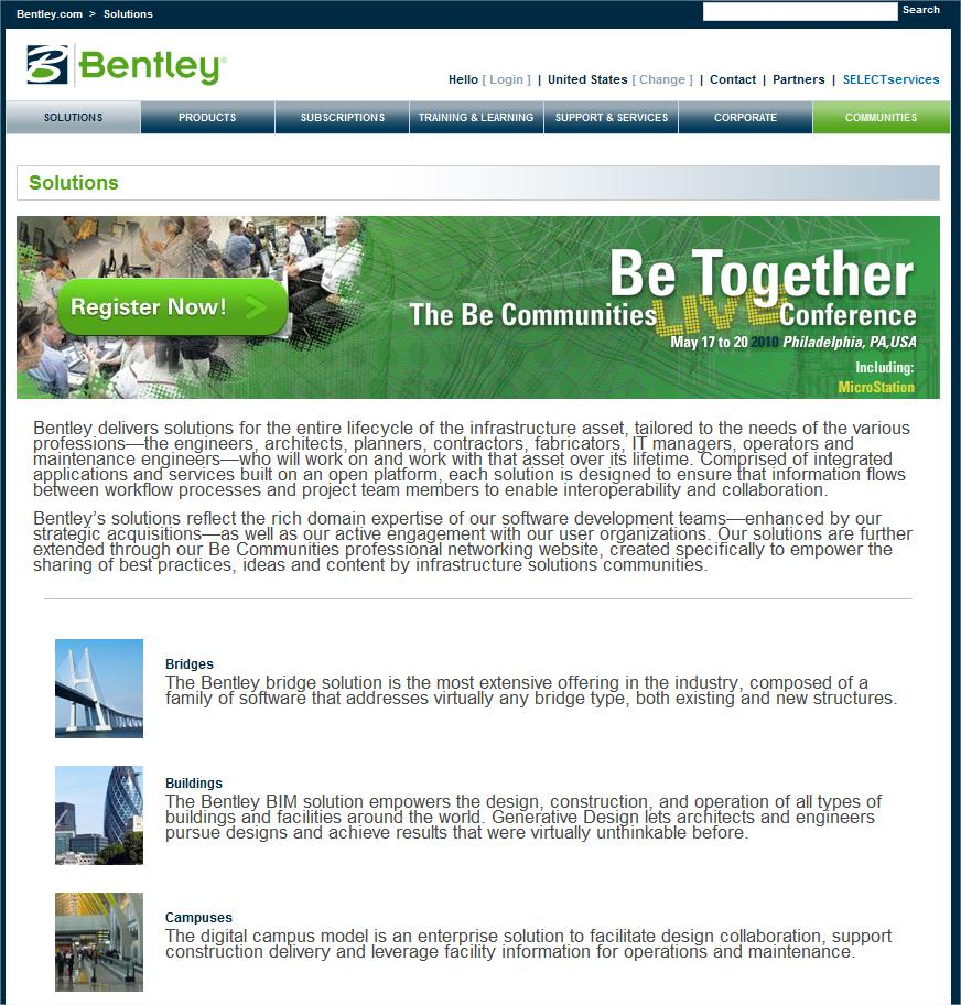 2010 Bentley Systems, Incorporated Bentley Systems Update