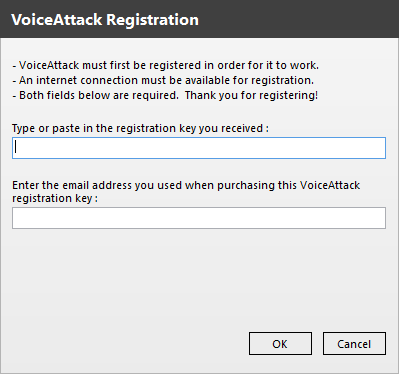 voice attack registration key