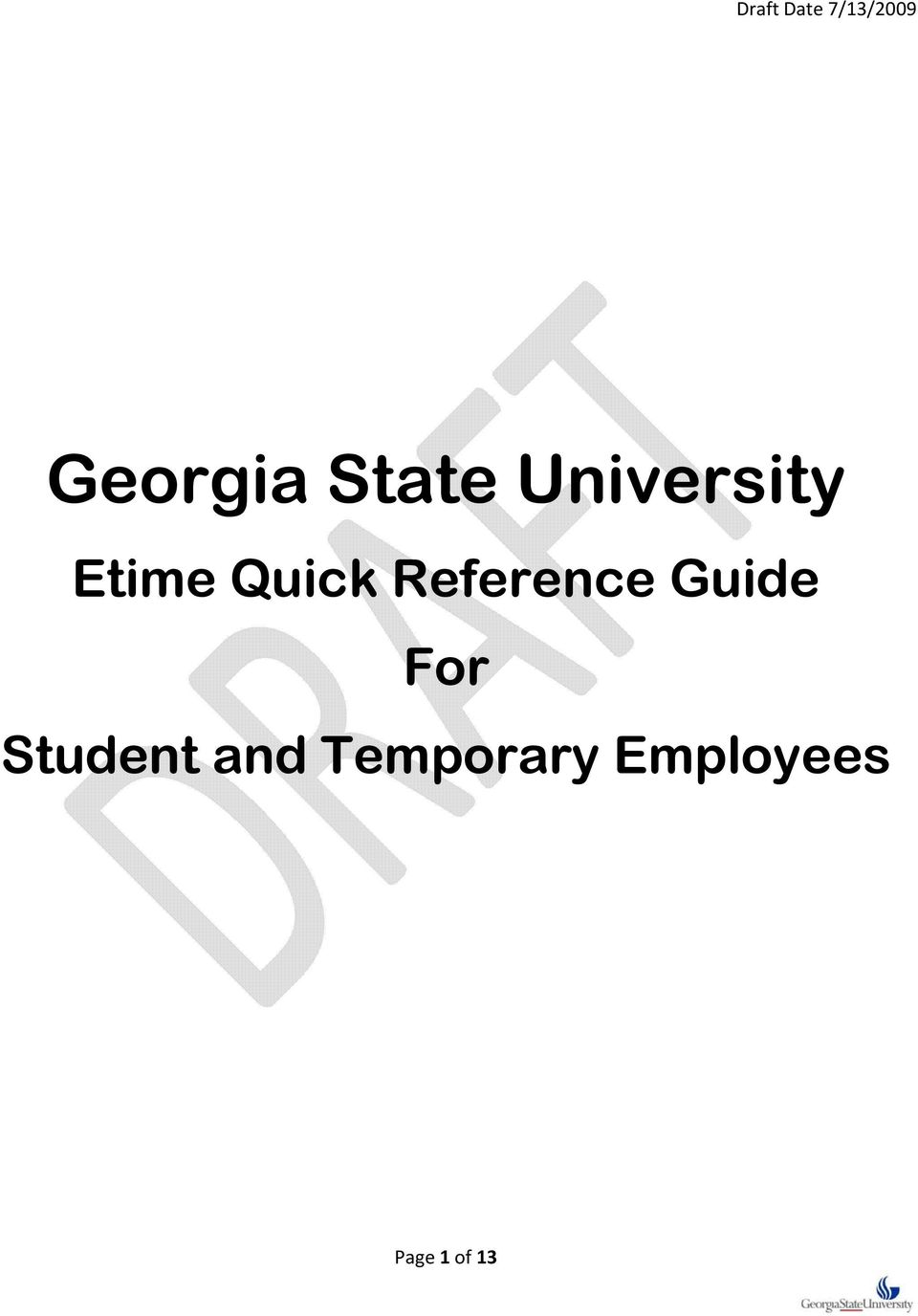 Guide For Student and