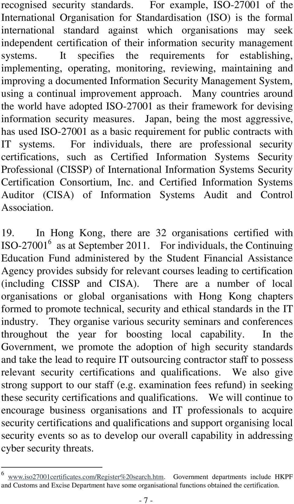 information security management systems.
