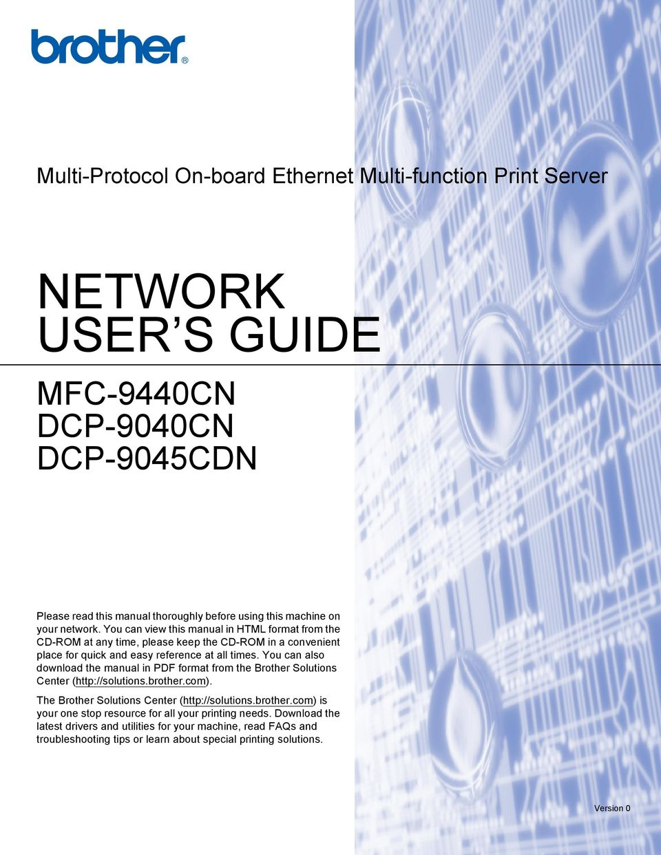 Brother international dcp-9040cn manual.