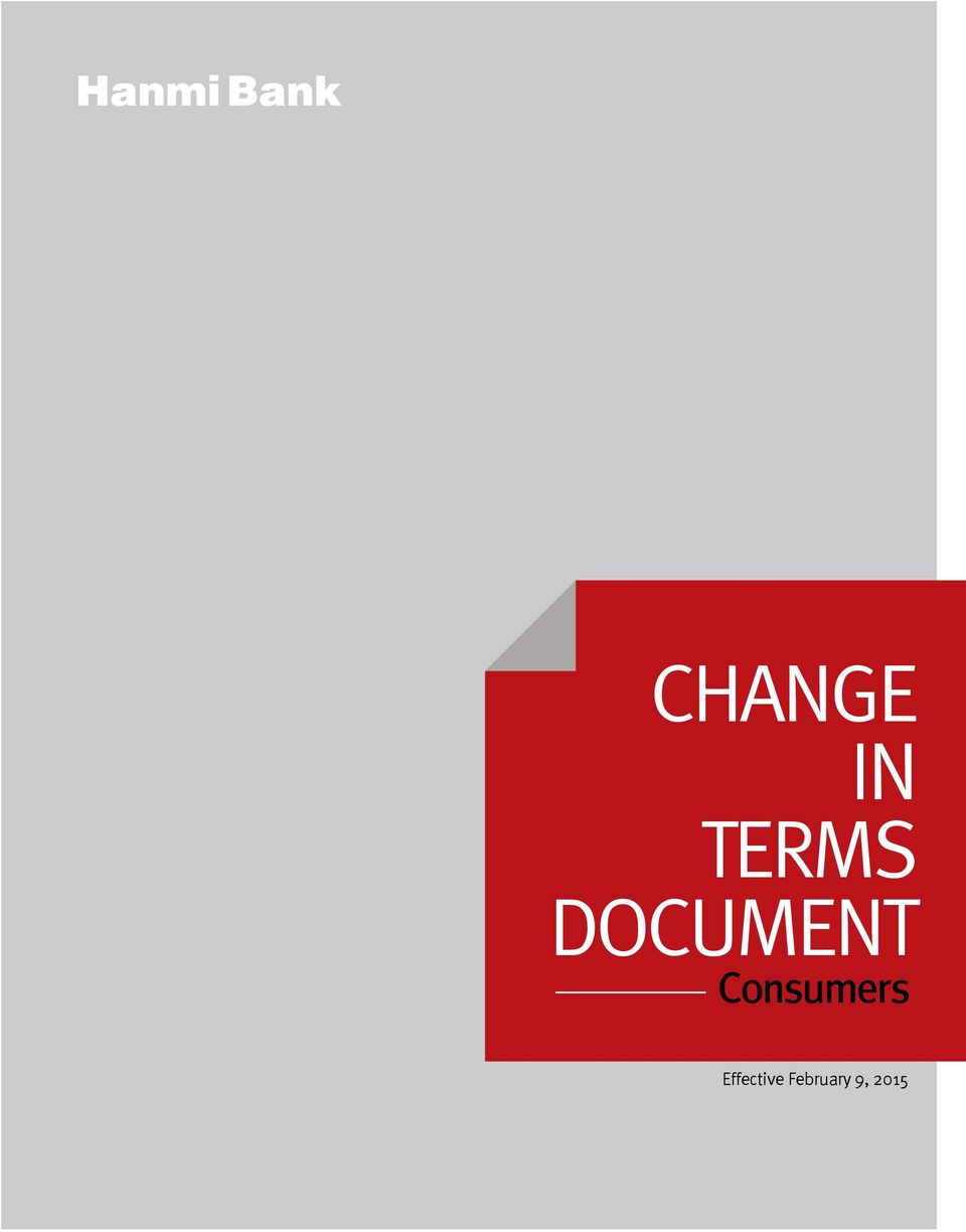 Change In Terms  Consumers - PDF