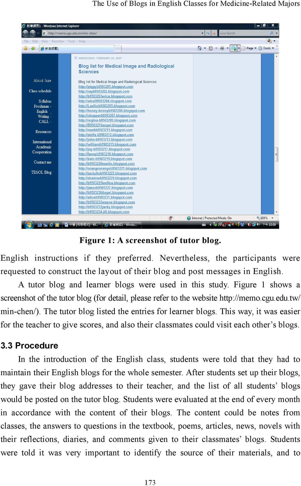 The Use of Blogs in English Classes for Medicine-Related Majors - PDF