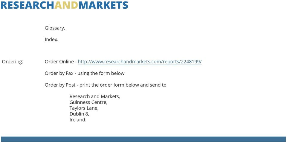 com/reports/2248199/ Order by Fax - using the form below Order