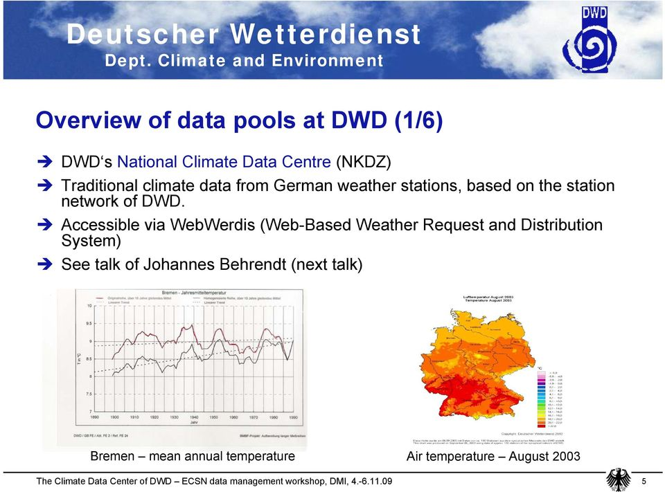 DWD. Accessible via WebWerdis (Web-Based Weather Request and Distribution System) See