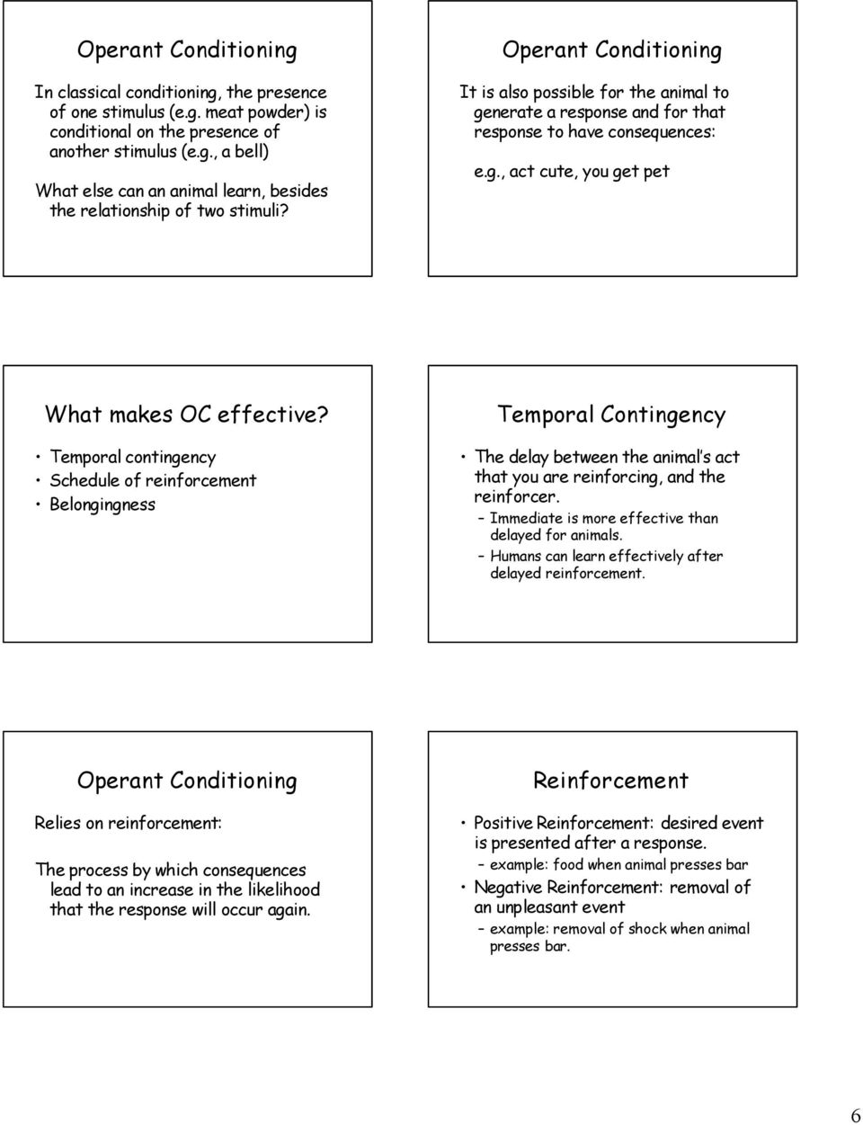 classical conditioning and operant conditioning exercises