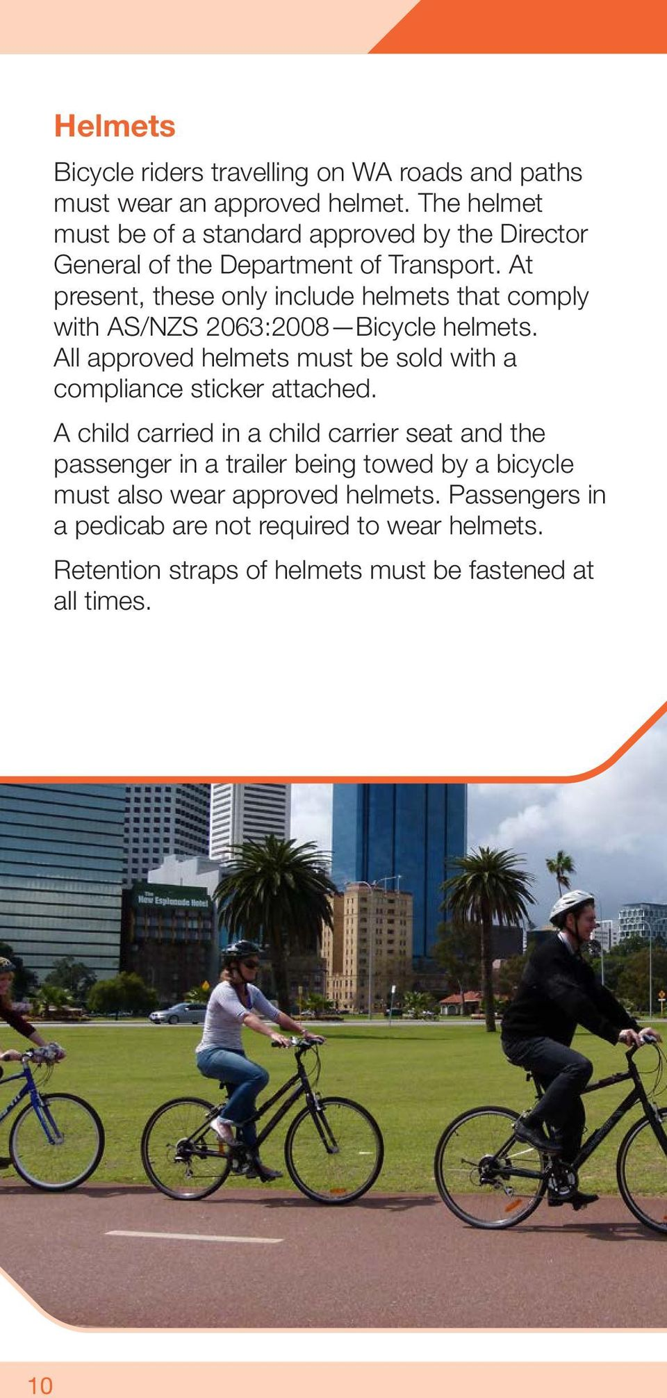 At present, these only include helmets that comply with AS/NZS 2063:2008 Bicycle helmets.