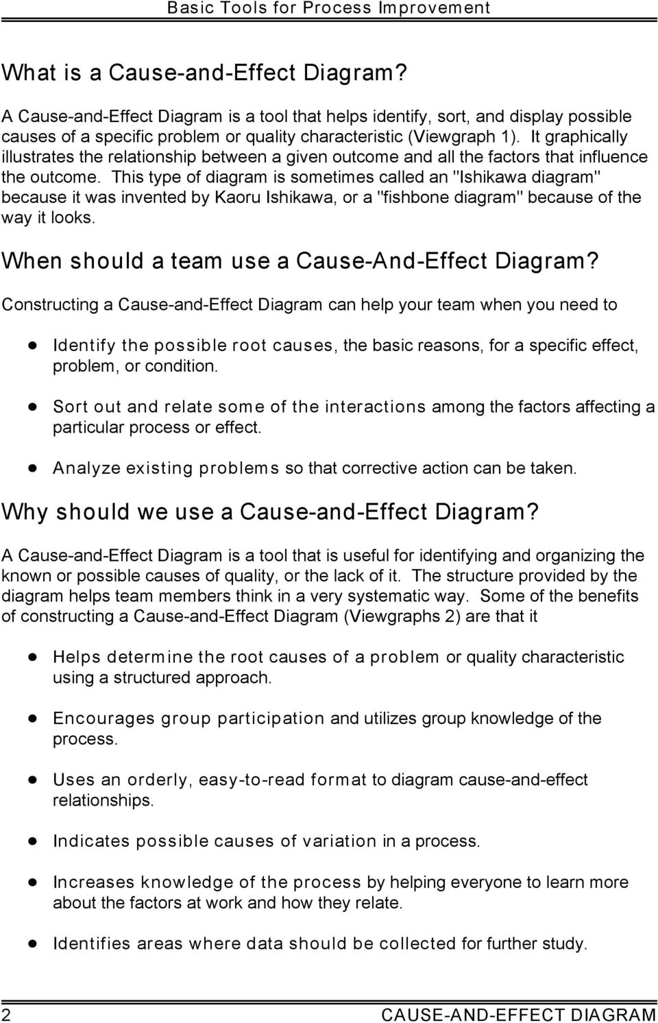 Cause and effect diagram pdf this type of diagram is sometimes called an ishikawa diagram because it was invented ccuart Image collections