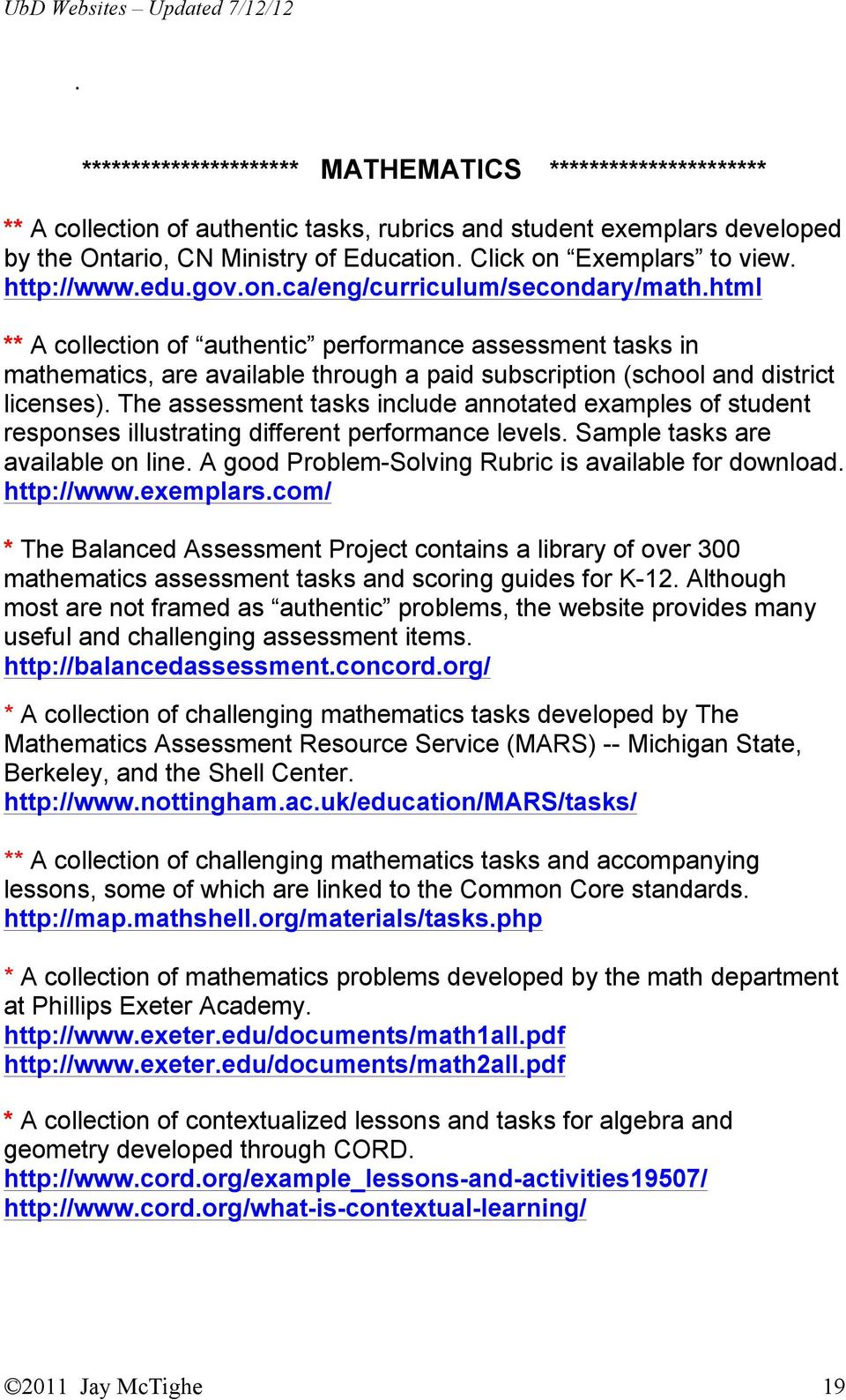 Envision Geometry Assessment Resources