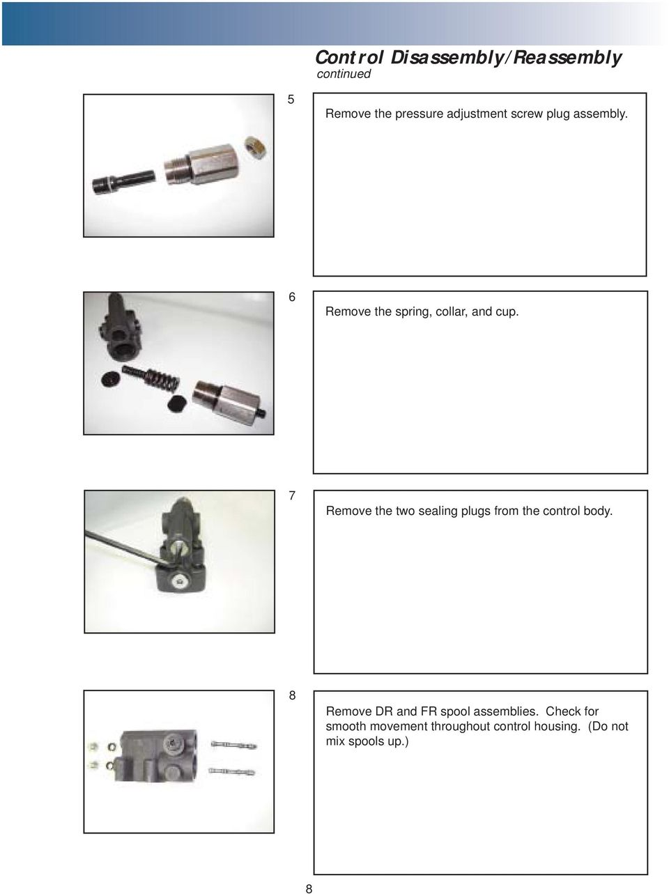 Table of Contents  Overview 1  Pump Disassembly 2  Control