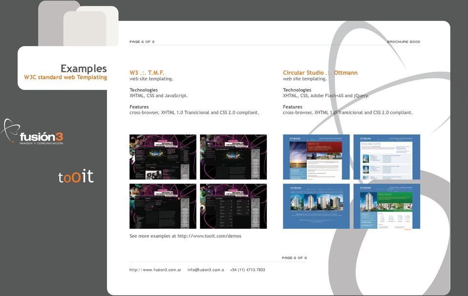 Ottmann web site templating. XHTML, CSS, Adobe Flash+AS and jquery.