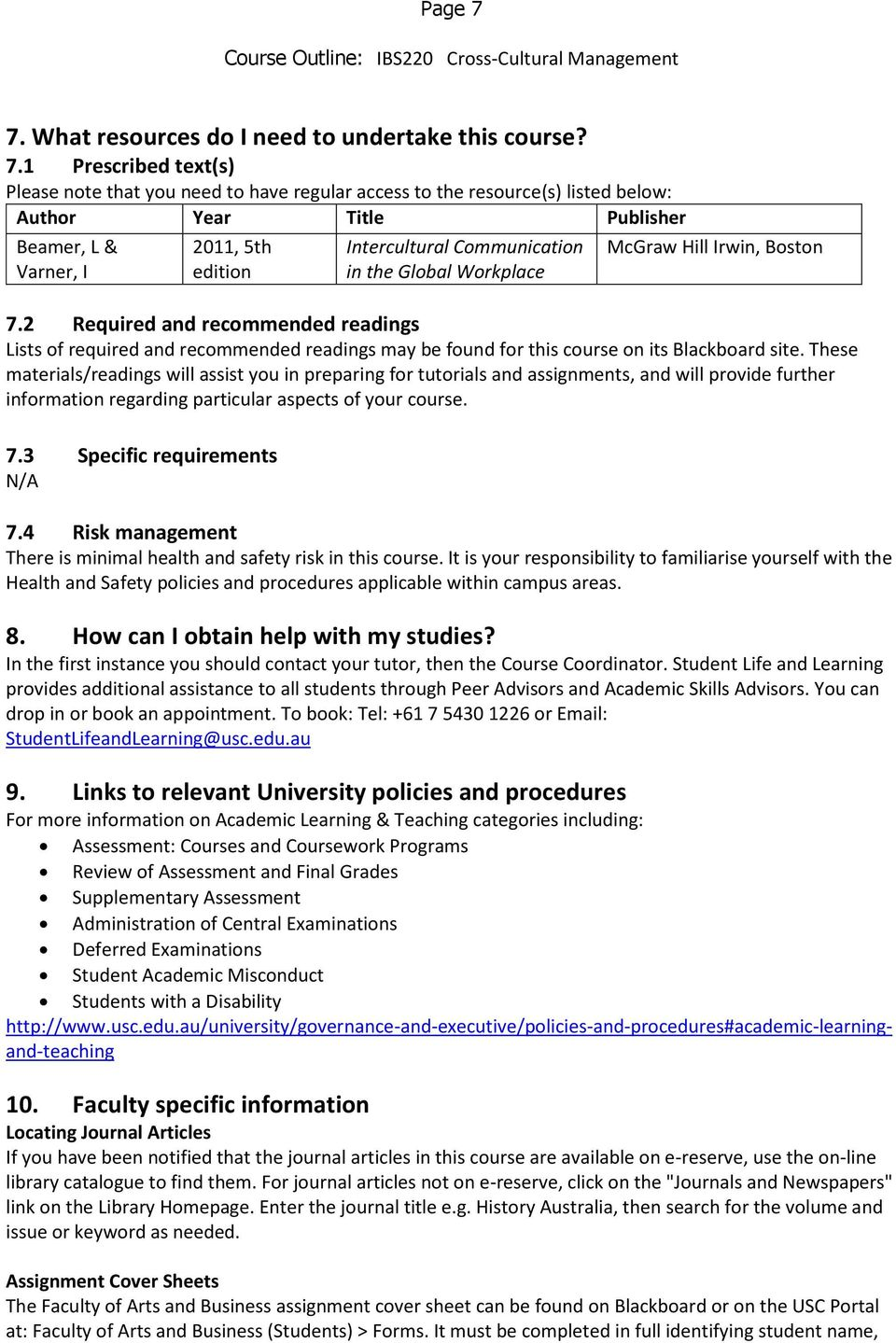 communication and culture coursework titles