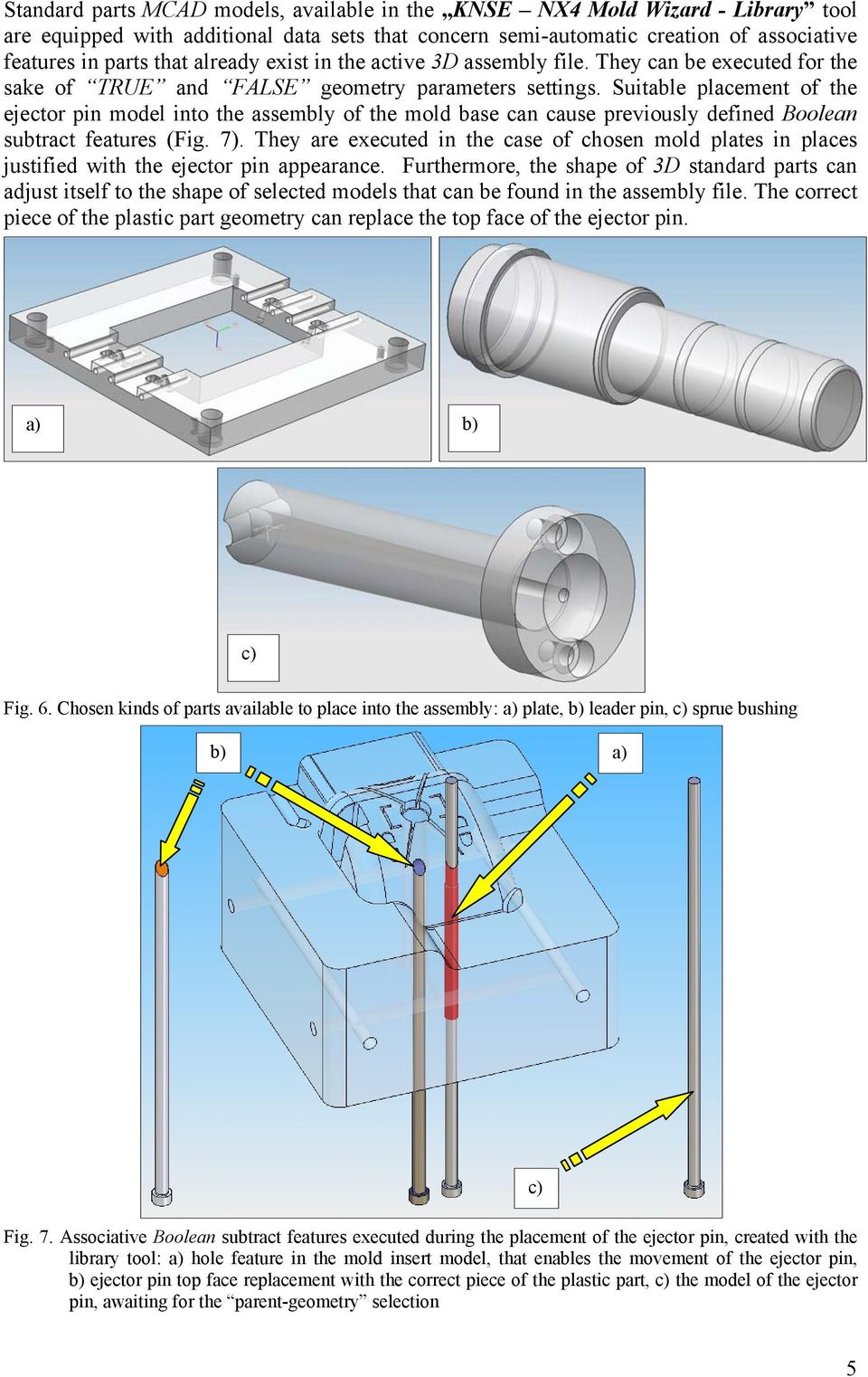 Digital library of chosen injection mold standard parts, dedicated
