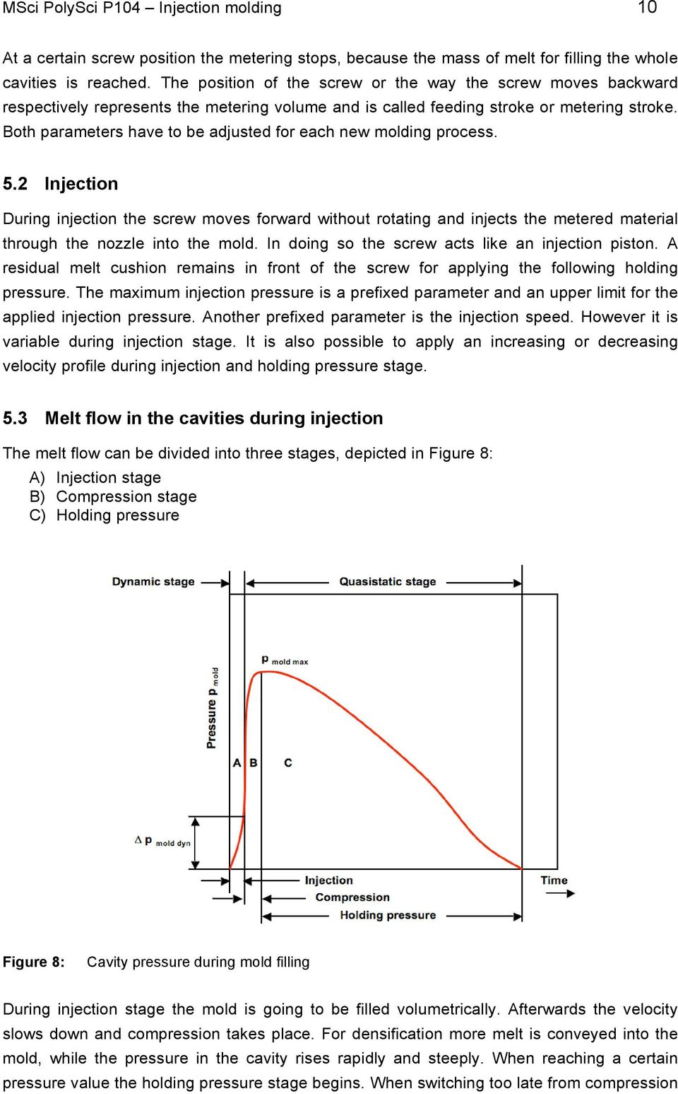 Msci Polysci Lab Modul P104 P Injection Molding Process Flow Diagram Reaction Moulding Both Parameters Have To Be Adjusted For Each New 5