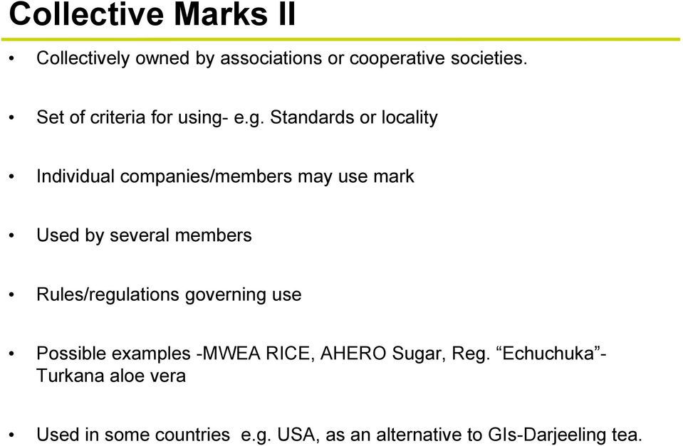 The u. S. Geographical indications system: building gi brands ppt.